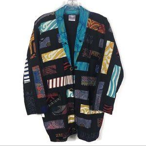 Vintage Mix Print Quilt Patchwork Jacket